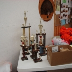 Trophies to be given to top students.