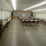 Archery room - setup to serve almost 200 guests