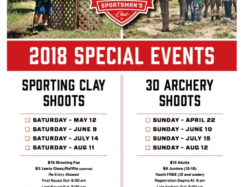 2018 Special Event Dates