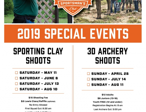 2019 Special Events Announced